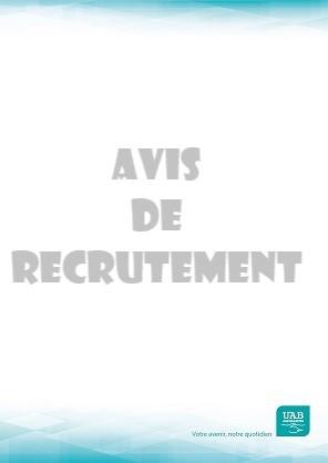 UAB avis de recrutement 2